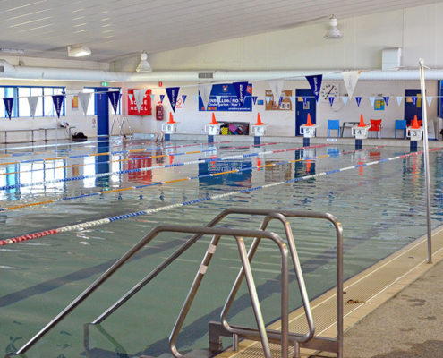 empty indoor swimming pool