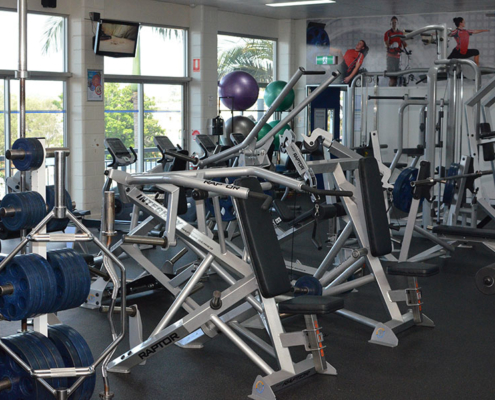 weight machines in indoor gym