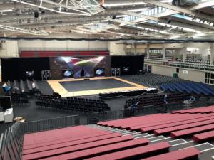 empty gymnastics arena