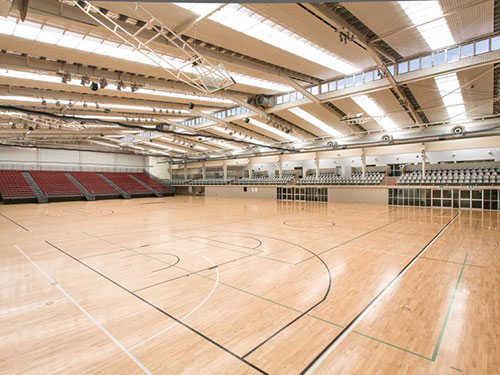 Empty indoor court