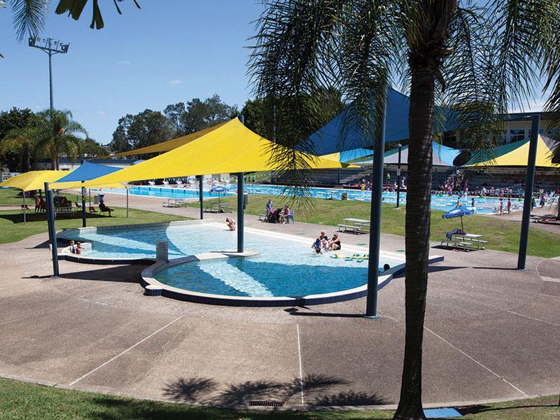 Undercover children's swimming area