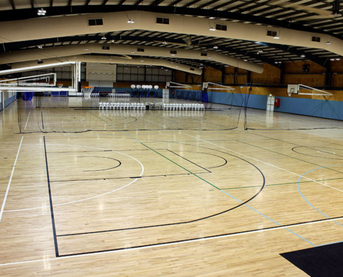 Empty Indoor basketball court